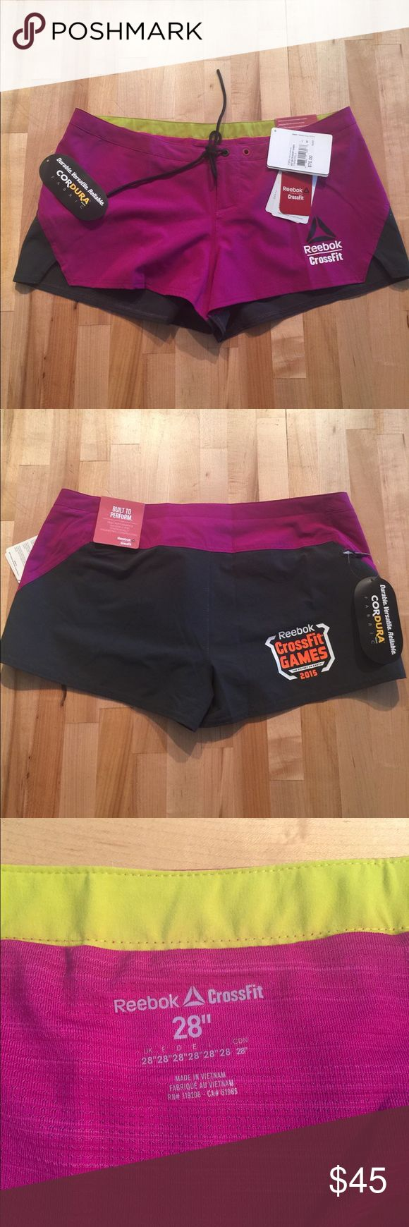 Women's Reebok CrossFit shorts 28 inches Brand new with tags. Reebok 2015 CrossFit shorts. 28 inches waist. Reebok Shorts