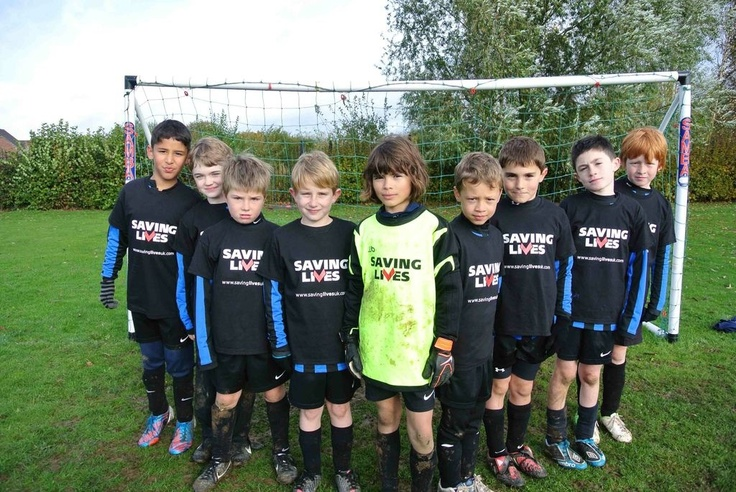 Leamington Juniors FC Under 9s Saving lives