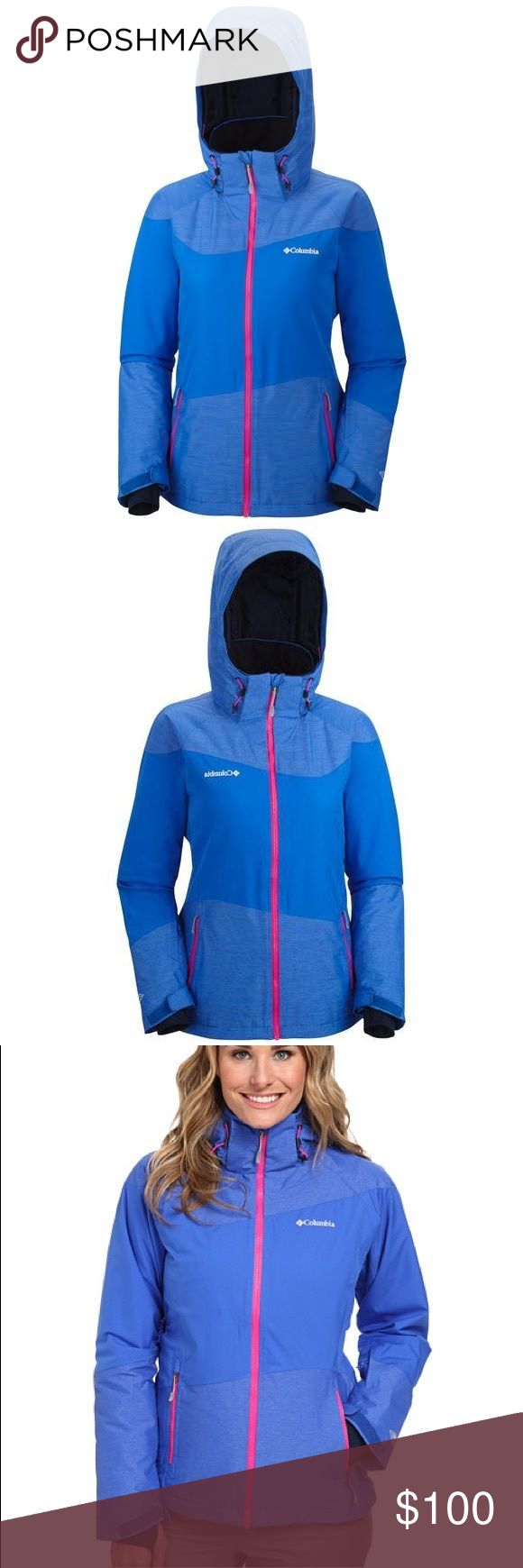 Women's Columbia Parallel Grid Jacket Omni-Heat™ thermal reflective and insulated Omni-Tech™ waterproof/breathable fully seam sealed Omni-Shield™ advanced repellency Removable, adjustable storm hood Underarm venting Waterproof zippers Drawcord adjustable hem Adjustable, snap back powder skirt Gusset detail Interior security pocket Zippered hand pockets Media and goggle pocket Ski pass pocket Adjustable outer cuff-inner comfort cuff Abrasion resistant chin guard Columbia Jackets & Coats