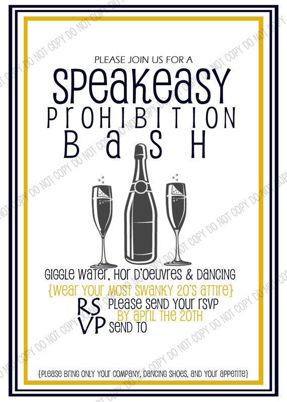20's Themed Party Invitation by HomegrownTrinkets on Etsy, $8.00