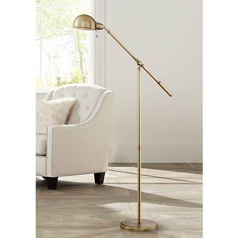 Dawson antique brass 55 1 2 high pharmacy floor lamp style 1k787 living roomsfresh