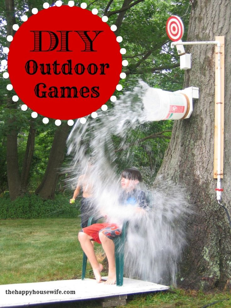 Just in time for summer...check out some of our best DIY Outdoor Games for the whole family to enjoy! | The Happy Housewife