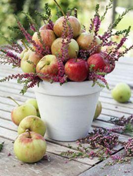 Sweet September Wedding   Centrotavola di mele per un delizioso matrimonio autunnale   Apple centerpiece #apple   The Proposal Wedding Blog