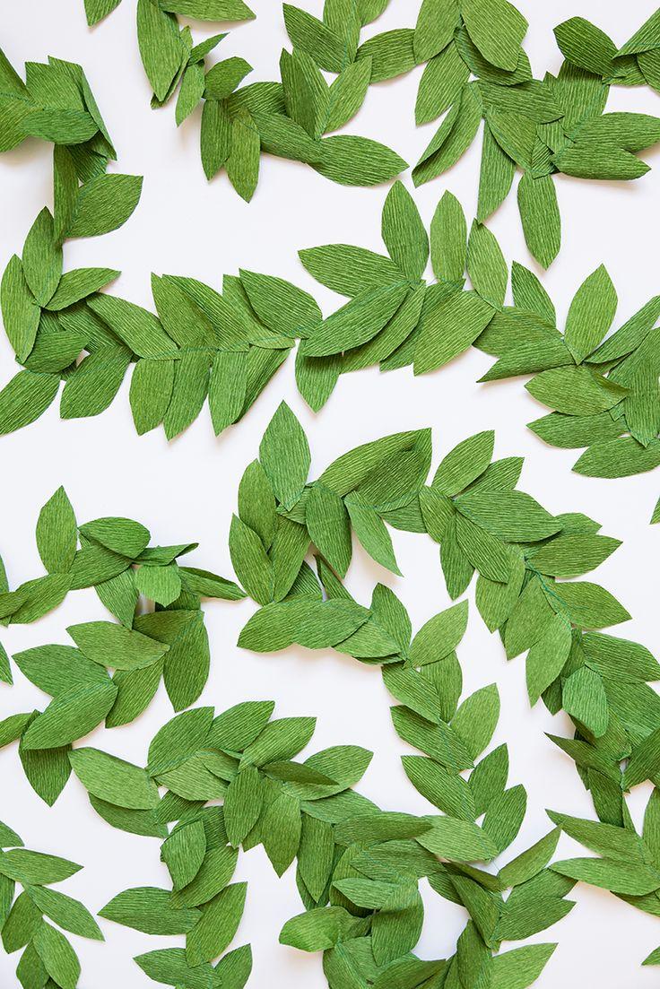 Diy paper flower wreath ruffled - Diy Paper Leaf Garland