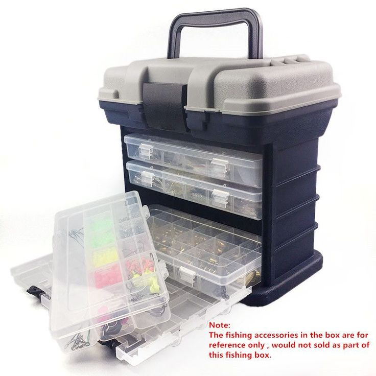 27x17x26cm 4 Layer Sea Fishing Tackle Boxes