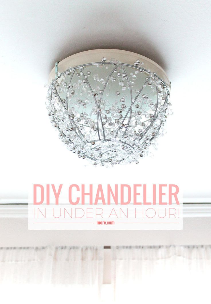 How To Make A DIY Chandelier In An Hour. Closet LightingDiy ...