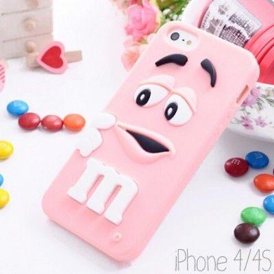 Coque de téléphone M&M's Rose pastel pour Iphone trouvé sur ► http://www.bijoux-faits-main.com/img/p/858-2708-thickbox.jpg