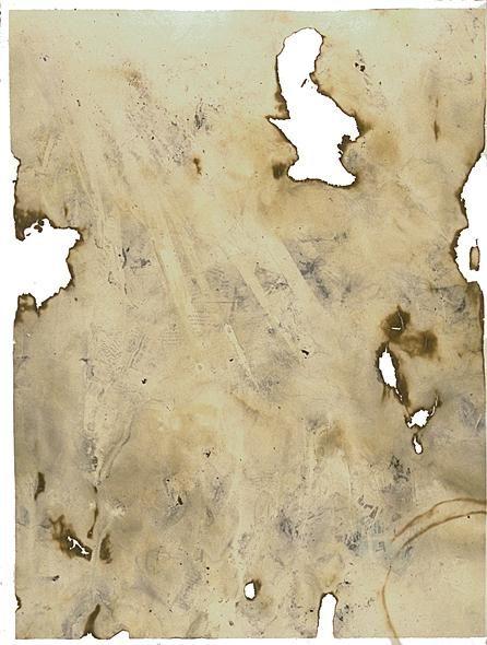 John Cage, Eninka (smoked paper monotypes) 1986