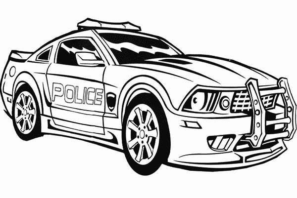 Coloring Kids Police Car Em 2020 Carros Para Colorir Desenhos