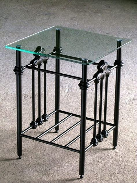 The Kenmare metal table is a traditional elegant design.