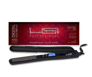 HSI PROFESSIONAL 1 CERAMIC TOURMALINE IONIC FLAT IRON HAIR STRAIGHTENER FREE GLOVE + POUCH AND travel size Argan Oil Leave In Hair Treatment...