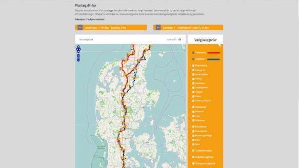Detailkort Haervejen Cykelferie Vandreferie Udforske