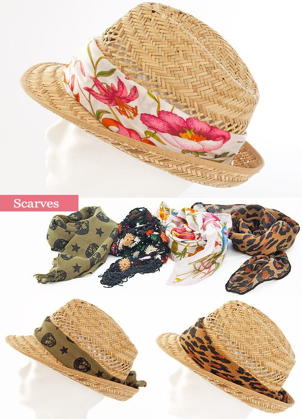 summer straw hat decorations ideas scarves fashionable summer projects