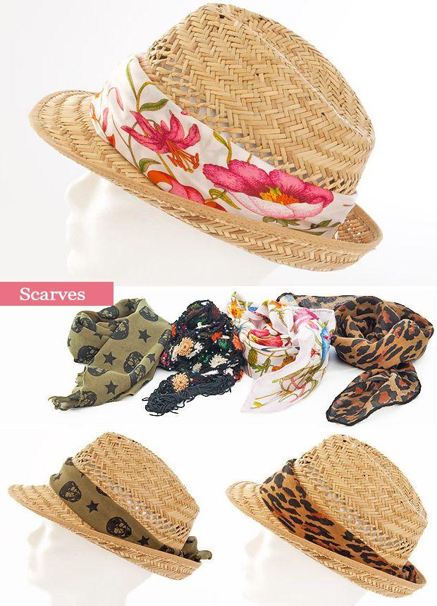 Decora tu sombrero playero con...pañuelos