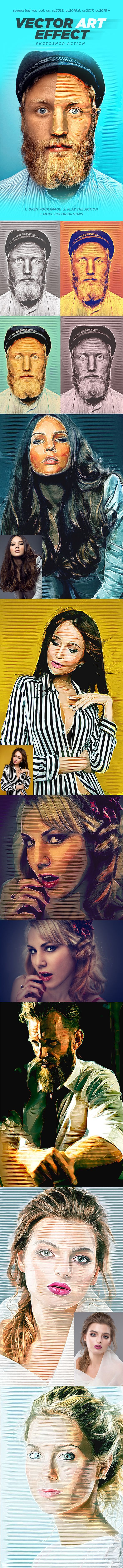 #Vector Art #Photoshop #Action - Photo Effects Actions