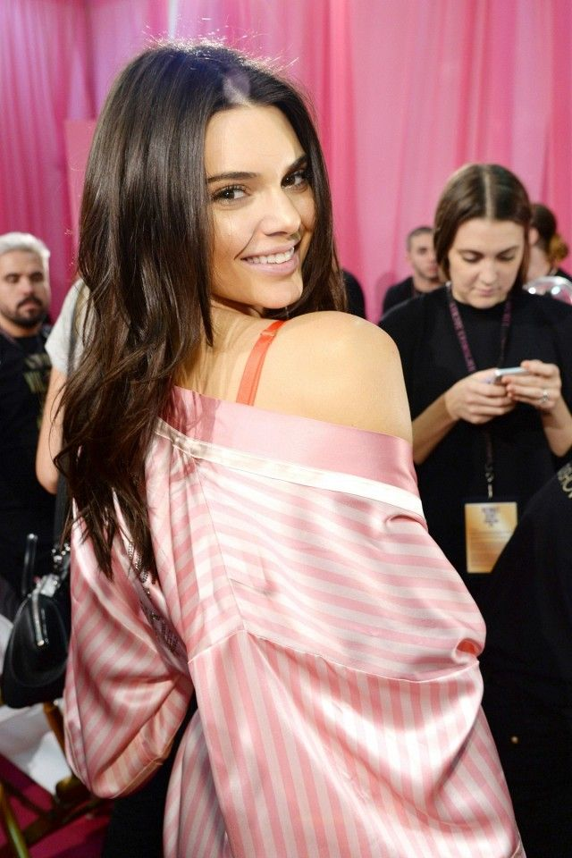 Kendall Jenner backstage at the Victoria's Secret Fashion Show