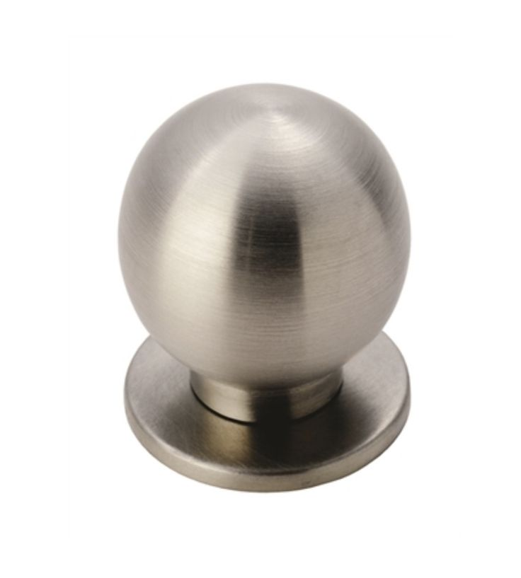 Spherical Cabinet Door Knob   Dimensions   Sizes Available FTD425A: Rose  Diameter 25mm, Knob Diameter 25mm FTD425B: Rose Diameter 30mm, Knob  Diameter 30mm ...