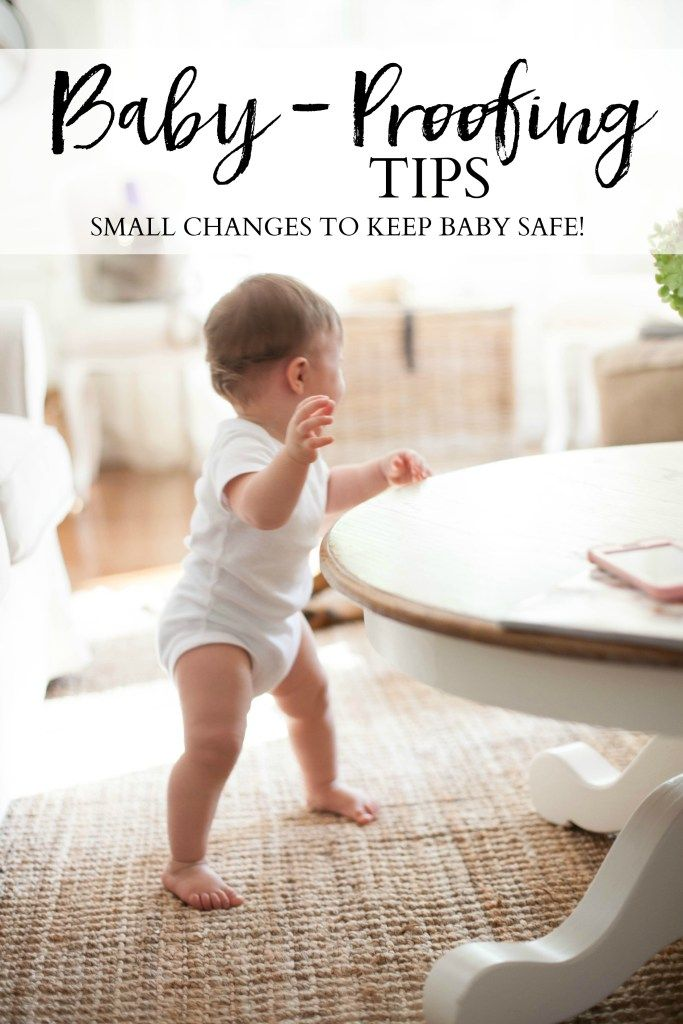 Simple baby-proofing tips that will help keep your little one safe when they start becoming mobile! | How to Baby Proof Your Home | Baby Proofing Ideas || Lauren McBride