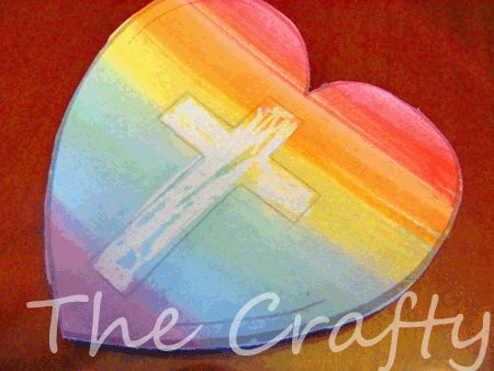 The Crafty Classroom featured this sweet art project where you take a white crayon, draw a cross, and then paint over it with watercolors.  The precious symbol will be revealed with each stroke of the paintbrush!