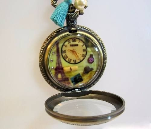 Collar Reloj Torre Eiffel Paris Estilo Vintage Reloj de Bolsillo  Accesorios para mujer