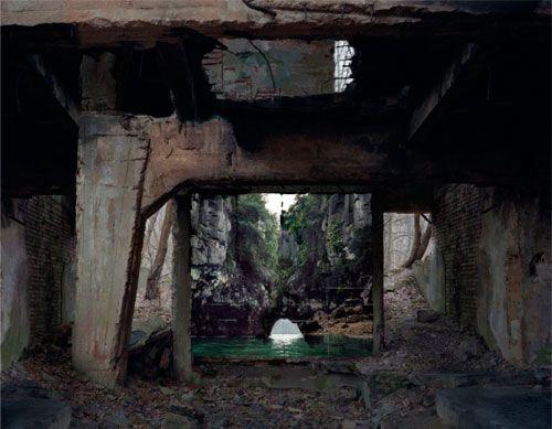 """Noémie Goudal, """"Reservoir"""", Haven Her Body Was, Lightjet Print, 168 x 208 cm, 2012"""