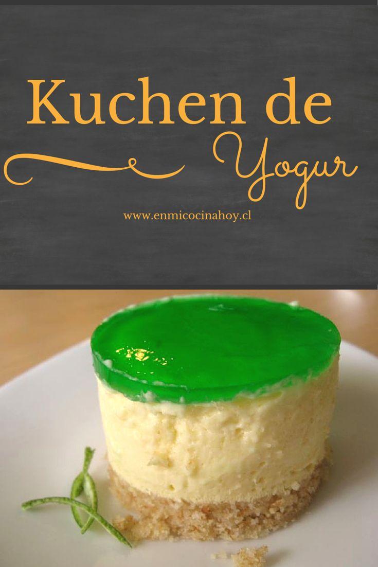 El kuchen de yogurt es de mis postres favoritos durante el verano, servido bien helado es delicioso.