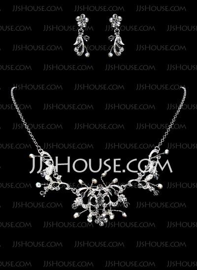 Smykker - $19.99 - Smykker sett Jubileum bryllup engasjement Bursdag Gift Party Alloy sølv Smykker med Pearl (011017864) http://jjshouse.com/no/Smykker-Sett-Jubileum-Bryllup-Engasjement-Bursdag-Gift-Party-Alloy-Solv-Smykker-Med-Pearl-011017864-g17864