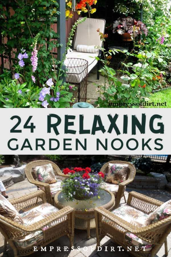 24 Relaxing Garden Nooks (Seating Ideas) in 2020 ... on Backyard Nook Ideas id=67666
