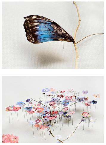 お花をモチーフにしたアートはたくさんあるけれども、こんなに繊細で優美な作品はほかにはないかもしれませんっ!!  今回ご紹介するのは、オランダの女性アーティストAnne …
