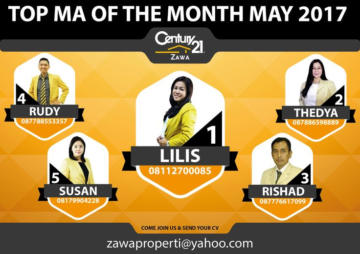 "TOP MA OF THE MONTH CENTURY 21 ZAWA ""MAY 2017"""