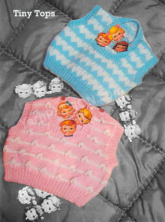 Knitted Tiny Tops Vests for 3 to 18 months