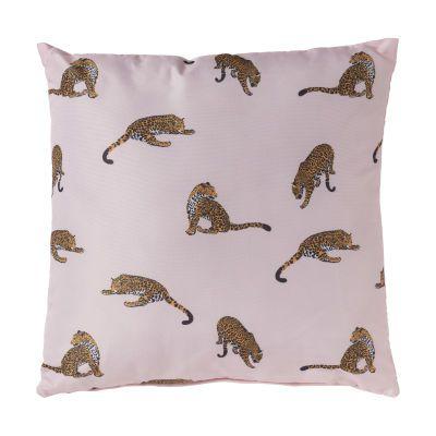 Kussen luipaard – roze – 45×45 cm