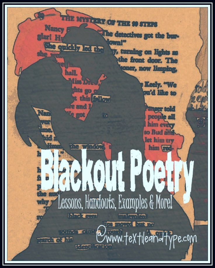 letter formation poems%0A Blackout Poety   Poems even Middle Schoolers Love Writing
