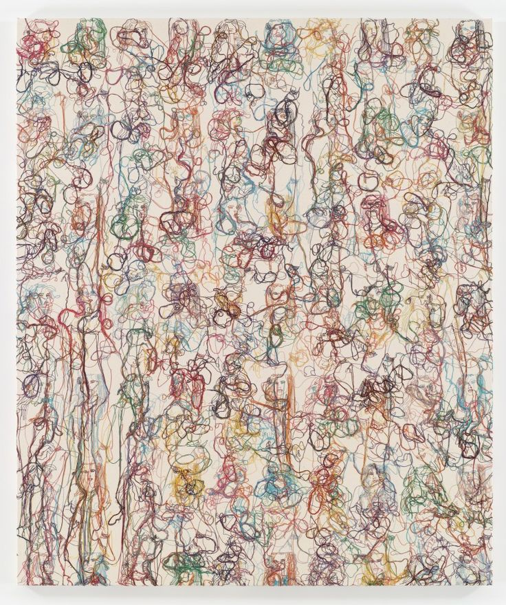 Ghada Amer, Color Misbehavior, 2009 ... I like the name as much as the painting!