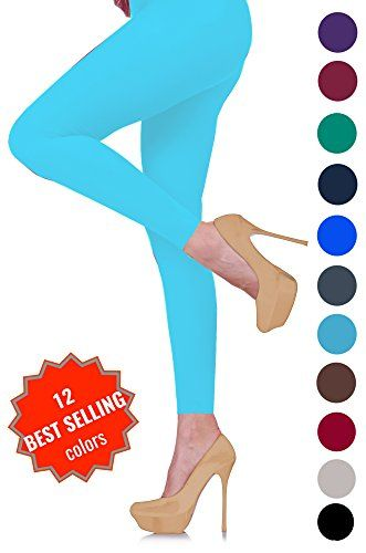Lush Moda Extra Soft Leggings – Variety of Colors – M (Fits Sizes 0 -12) – Fashion for Women