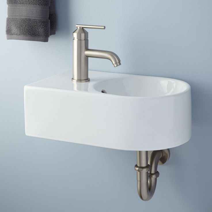 Wall Mount Sink With Metal Legs