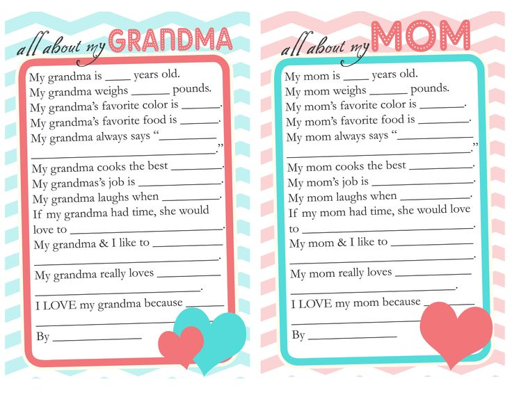 Mother's Day questionnaire to have the kids fill out for mom & grandma. Omg this would be hilarious:)