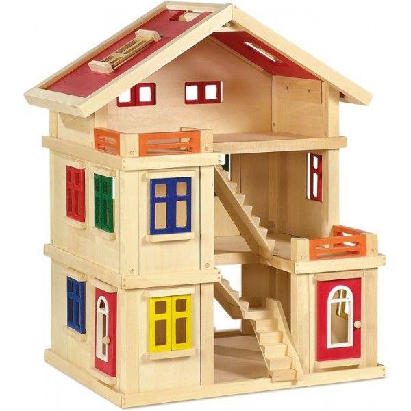 Casa delle bambole «Deluxe» Bellissima casa delle bambole, ideale per giochi di ruolo nel ambito della scuola materna