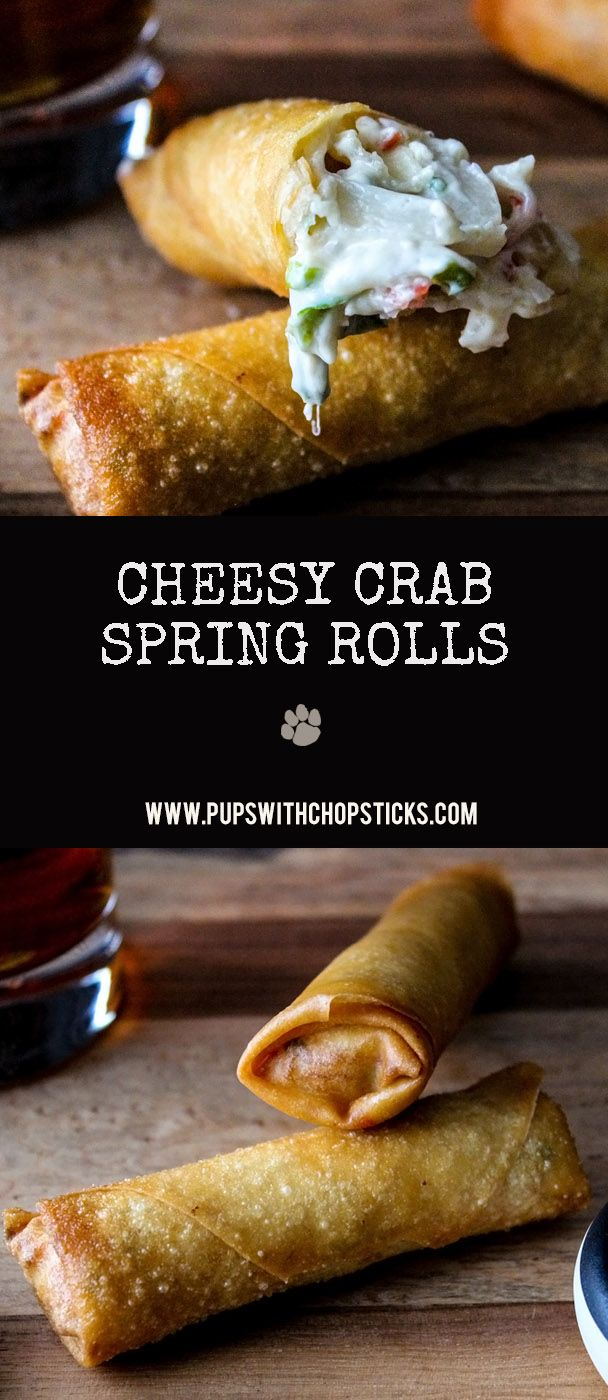 Step by step guide on making and rolling crispy, cheese crab spring rolls