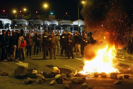 El seguimiento de la huelga general ha sido masivo en el turno de noche, según los sindicatos