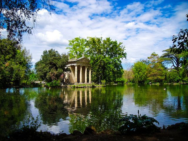 When in Rome...bring your kids to villa Borghese for a ride on a row boat, on a bike, to play calcio, visit one of the three museums or go to the zoo