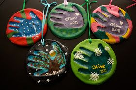 Olive Juice Mama: Salt Dough Handprint Ornaments