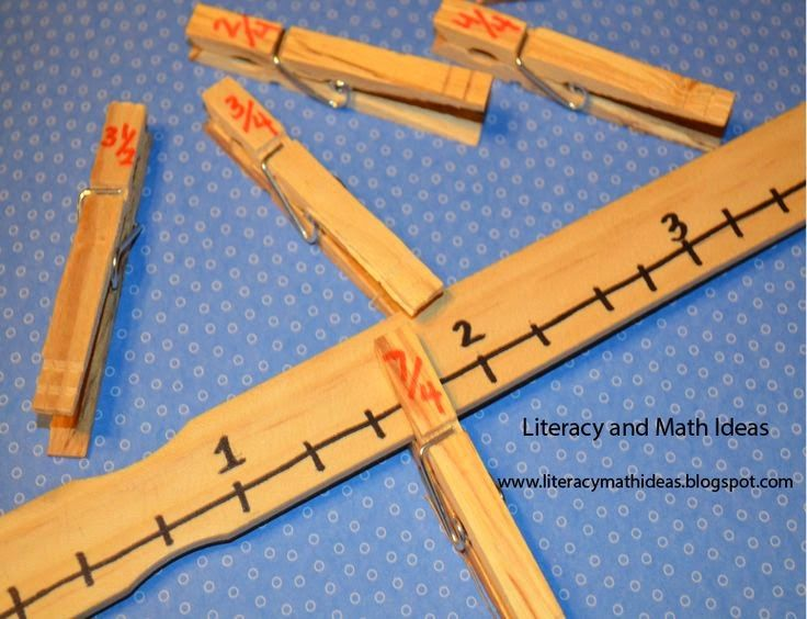 teach fractions with clothes clips Fabulous in Fifth!