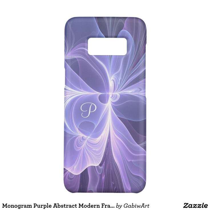 Monogram Purple Abstract Modern Fractal Case-Mate Samsung Galaxy S8 Case