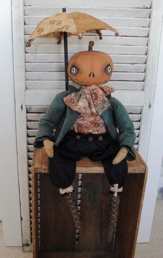 EPATTERN Primitive Folk Art Halloween by thevintagepolkadot, $15.00