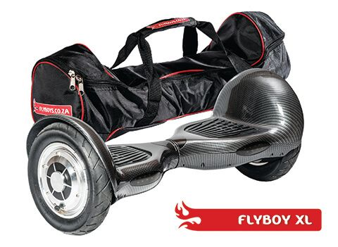 FlyboyXL in Carbon Fiber. Get it in a bag! This model has more GO than the other models. With it's larger, inflatable wheels, it can go where the others can't. Visit www.flyboys.co.za for more specs on this model and more