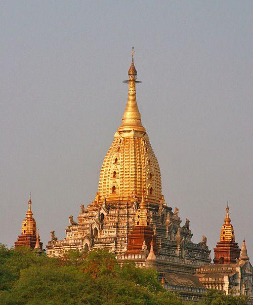 (via Ananda Patho, a photo from Ayeyarwady, South | TrekEarth) Bagan, Burma