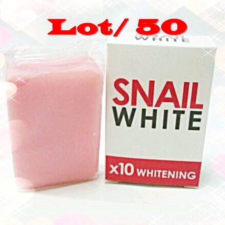 50 BAR SNAIL WHITE SOAP X10 WHITENING GLUTATHIONE FACIAL BODY SKIN FACE BRIGHTE #Snailwhite