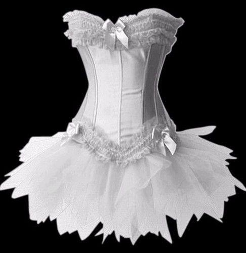 Burlesque Moulin Rouge Corset  tutu /skirt Fancy dress outfit Hen Party Costume | eBay