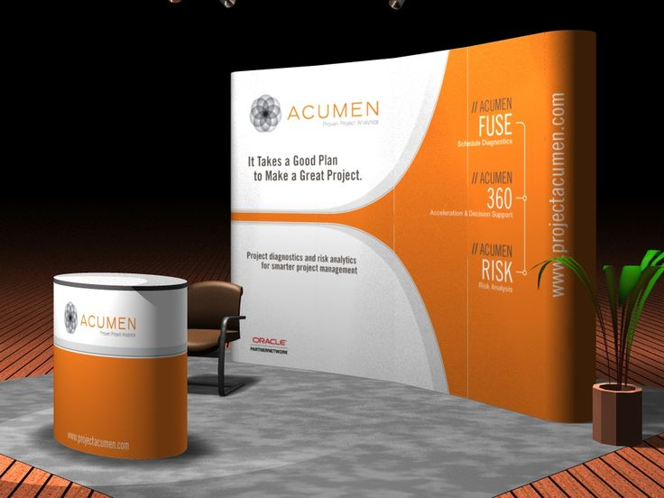 Trade Show Booth Design Ideas simple bold concept has the benefit of a impactful statement within a visually busy space tradeshow use of large image to capture attention Acumen Trade Show Booth Design
